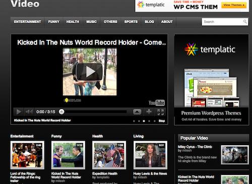 5 thèmes WordPress vidéo gratuit et responsive
