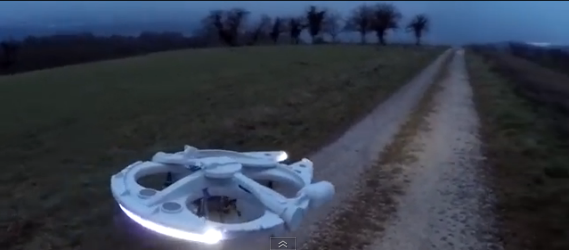 Un fan de Star Wars transforme son drone en Falcon Millenium