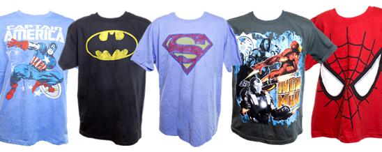 Top 5 des t-shirts pour les super-héros
