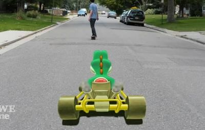 Mario Kart dans la vie réelle (Street Art)