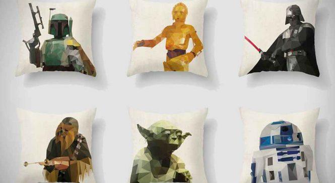 Des oreillers Star-Wars pixelisés pour les apprentis Jedi