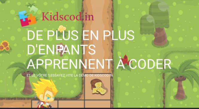 Apprendre la programmation aux enfants grâce à kidscod.in