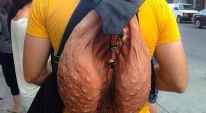 Ce sac à dos au look d'un scrotum sera bientôt en vente