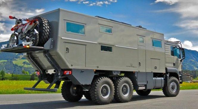 Global XRS 7200 : Le camping-car luxueux qui a la forme d'un tank