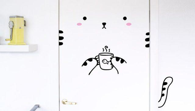 Décoration Intérieur : Des stickers pour placer des animaux sur vos portes