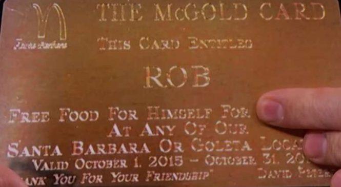 Une Carte Gold McDONALD'S Pour Manger Gratuitement Et Sans Aucune Limite