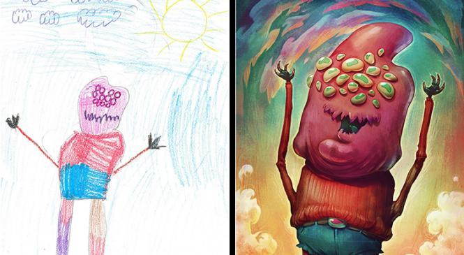 Des artistes s'amusent à donner vie à des dessins d'enfants