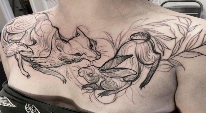 Sketch Tattoos, ces magnifiques tatouages qui semblent inachevés