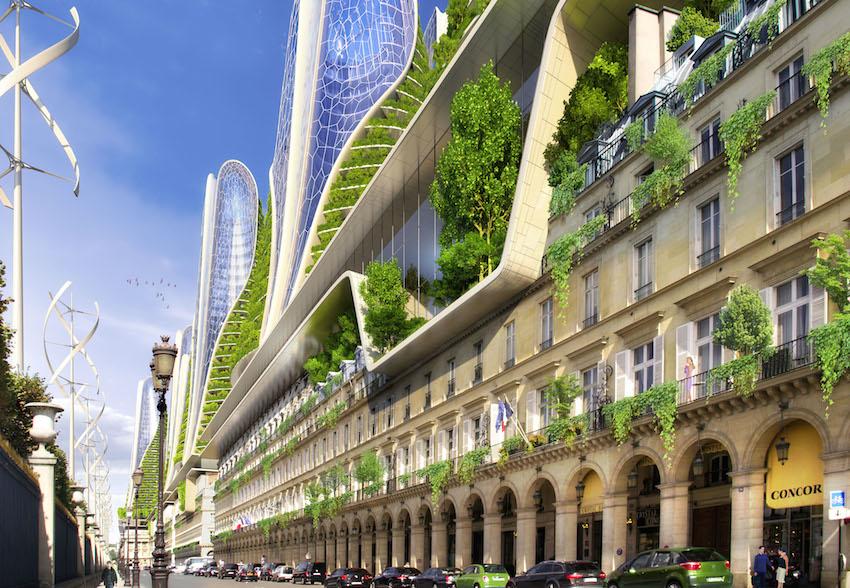 A quoi pourrait ressembler un paris cologique en 2050 for Architecture futuriste ecologique