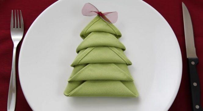 Transformer une serviette en un véritable Sapin De Noël. Apprenez à faire exactement pareil !