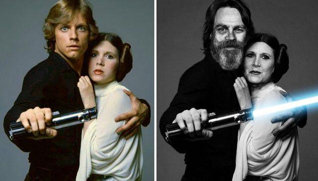 Les photos des acteurs et actrices de Star Wars (Avant / Après)