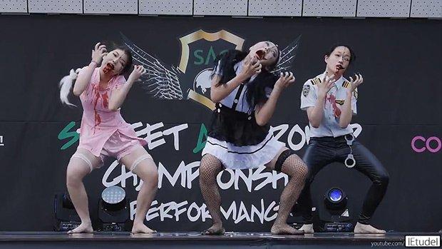 3 filles coréennes inventent la danse des Zombies