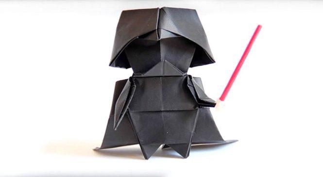Apprenez à plier un Dark Vador en Origami