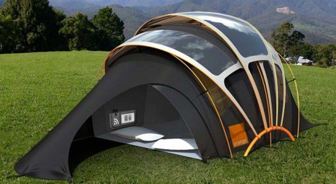 Découvrez la tente nouvelle génération avec Internet et un accès à l'éléctricité
