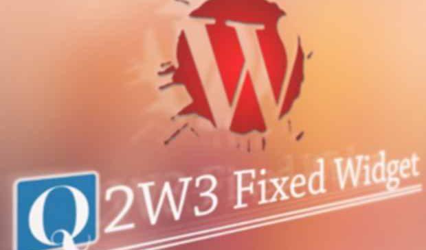 Q2W3 fixed widget : Ajouter un widget flottant à sa sidebar