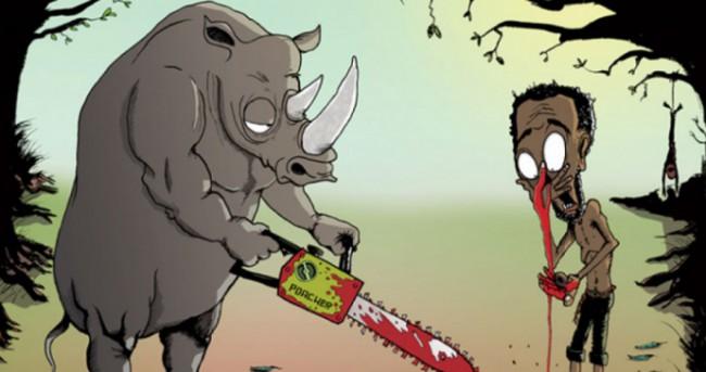 Ces illustrations inversent les rôles entre humains et animaux pour montrer les souffrances qu'ils endurent