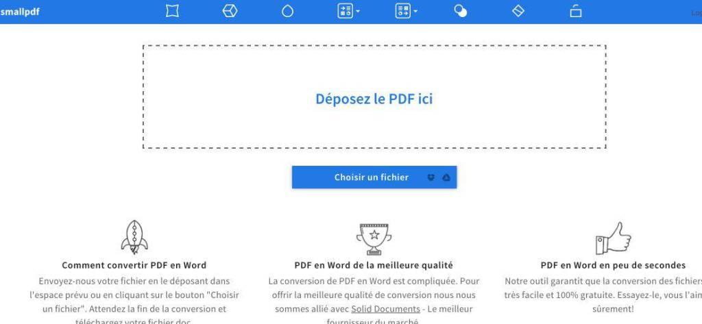 Convertir un fichier pdf en word 2007 en ligne