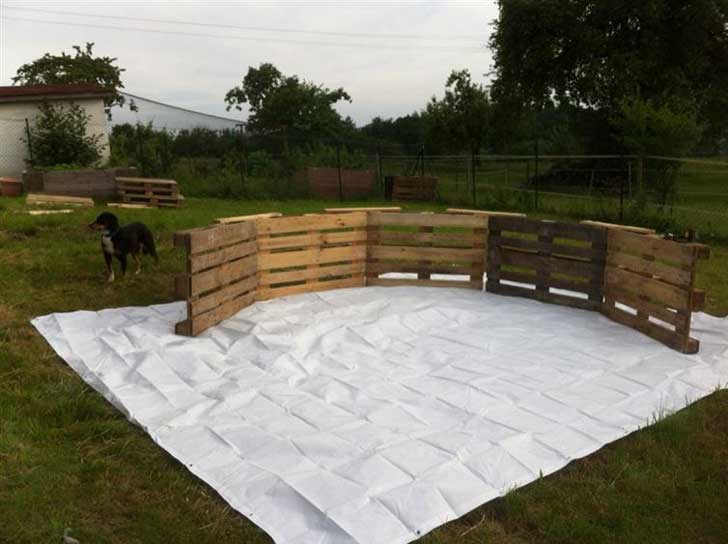 comment fabriquer votre piscine avec 9 palettes de bois