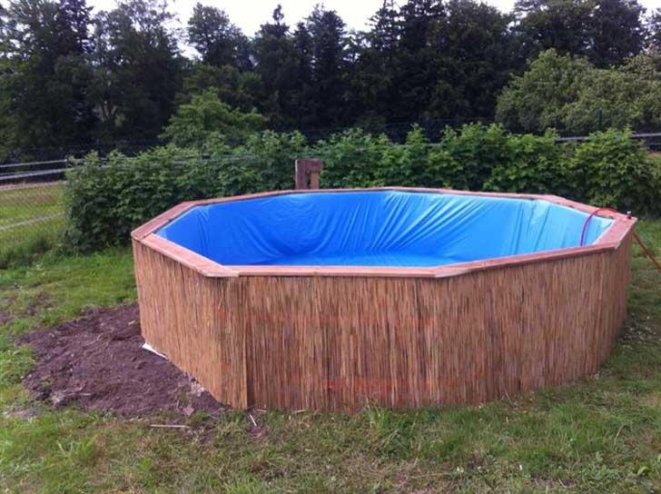 Faire une piscine avec des palettes en bois