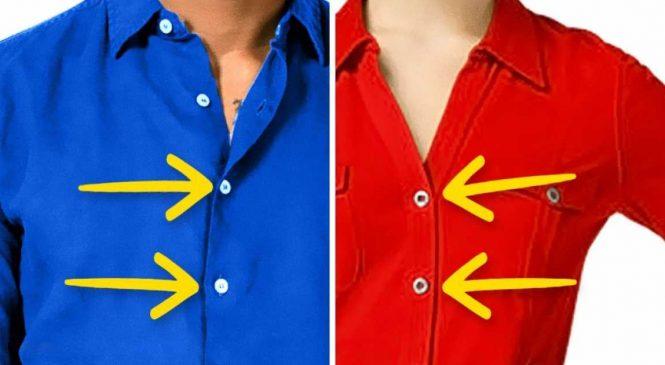 Voici pourquoi les boutons des chemises pour hommes et femmes sont sur des côtés opposés