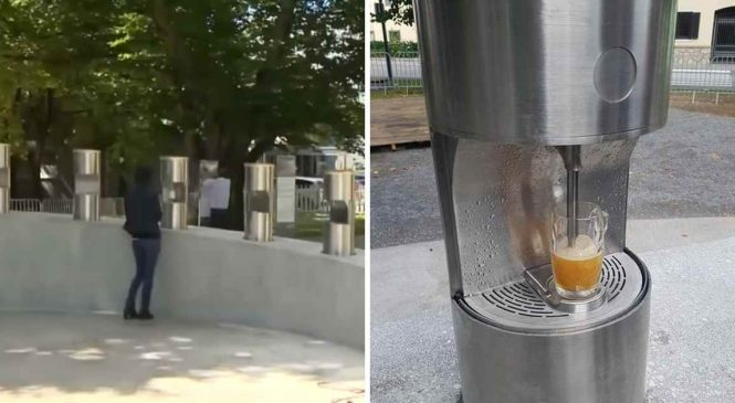 Une fontaine à bière publique vient d'être inaugurée en Slovénie