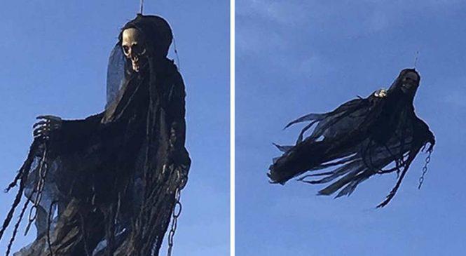 Halloween : Un gars fait la blague la plus drôle avec un drone et un détraqueur