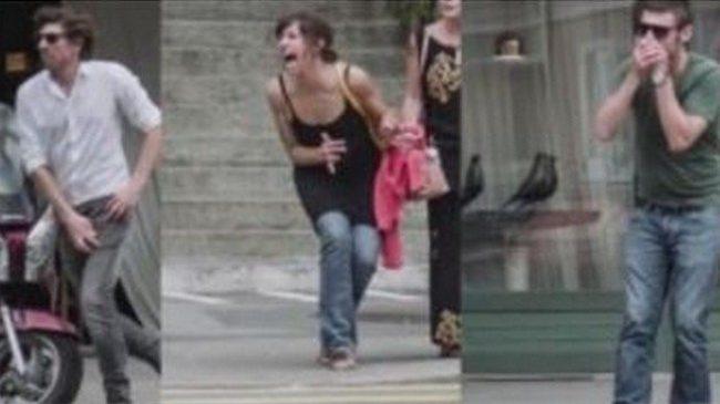 Dans la rue, il a les yeux rivés sur son smartphone mais, en l'espace d'une minute, une chose d'horrible va se produire. Énorme choc !