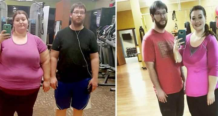 Ce couple a perdu plus de 130 kilos en faisant seulement
