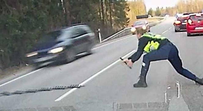 Un policier utilise une méthode incroyable pour arrêter un criminel