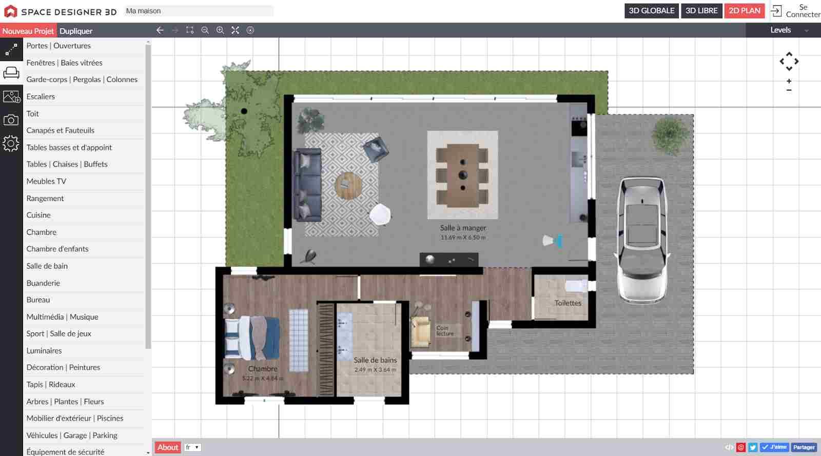 logiciel pour creer sa maison en 3d gratuit 4 logiciels. Black Bedroom Furniture Sets. Home Design Ideas