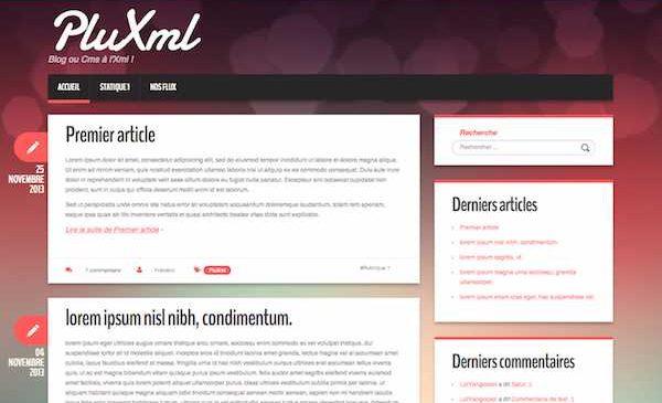 PluXml : Un CMS rapide, responsive et sans base de données