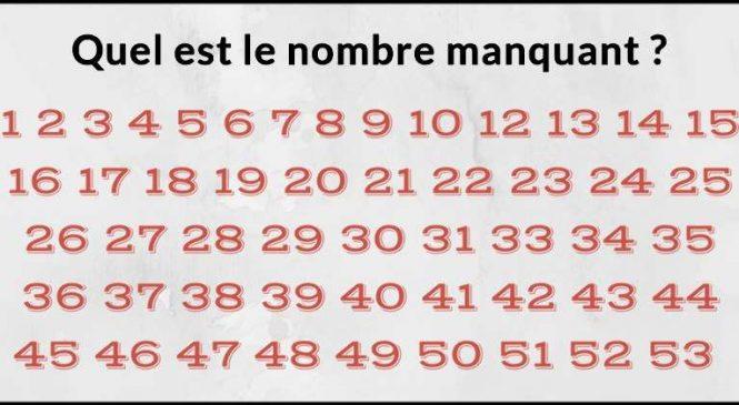 Combien de temps pour trouver les nombres manquants ? Ce casse-tête n'est pas si facile que ça !