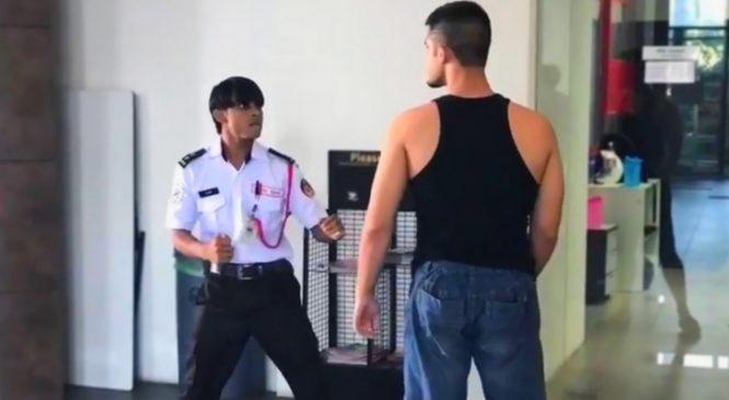 Un combattant professionnel s'en prend à un gardien. Il ne se doutait pas qu'il n'aurait pas dû chercher la merde !
