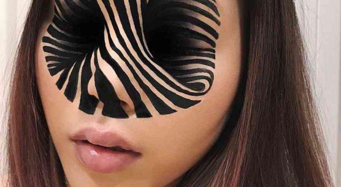 Elle réalise des illusions hallucinantes et insolites avec du maquillage