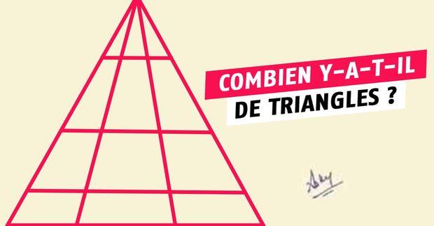 Combien de triangles sur cette image ? Vous vous trompez, je vous explique !