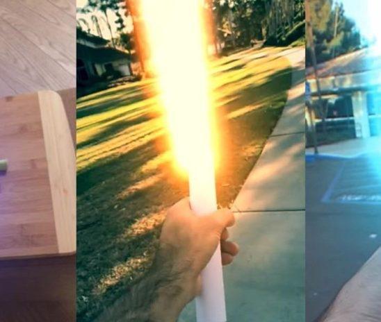 L'application iPhone InstaSaber transforme du papier en sabre laser