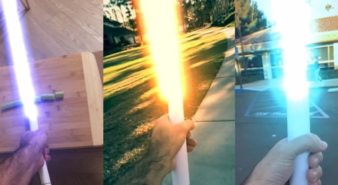 L'application iPhone InstaSaber transforme du papier en sabre laser
