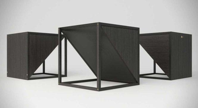 M.1 BlackxBlack : Une table de chevet noire qui fait aussi office d'enceinte